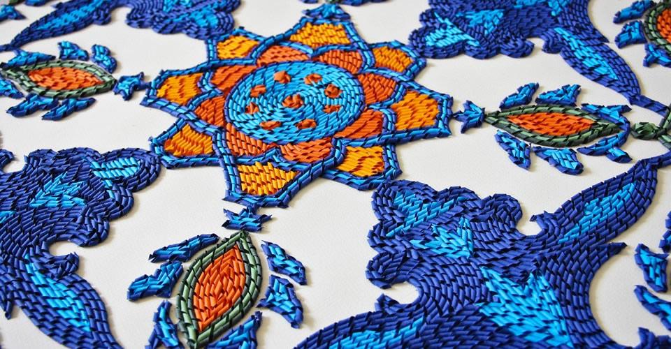 悉尼女孩Gunjan Aylawadi创作的织纸艺术