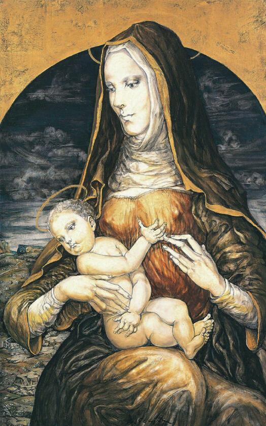 圣母像(二人像)