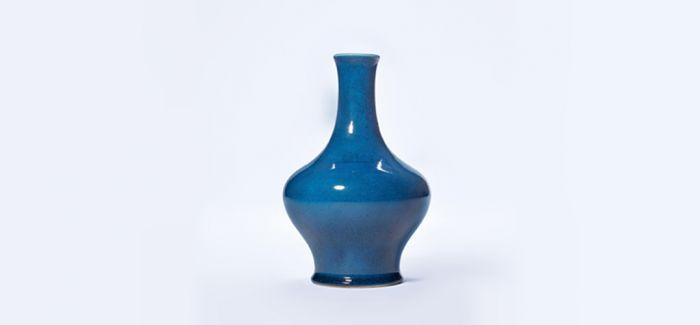 华美精艳的孔雀蓝釉