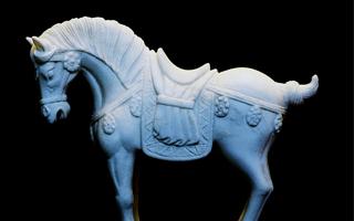 精巧细腻的唐代汉白玉石雕