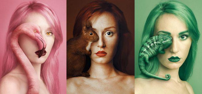 Flora Borsi 动物与人之眼创意摄影