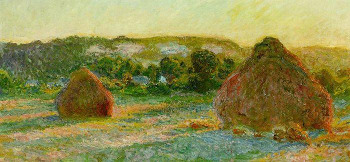 黄昏下的干草堆:莫奈作品将拍卖 估值4500万美元