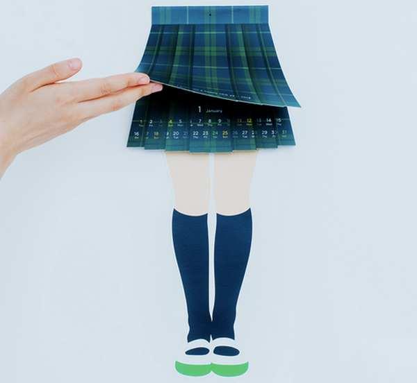 Kaori Kato 百褶裙日历创意设计,对于日历大家都司空见惯了吧,不过日本的加藤圭织(Kaori Kato)自2013年设计出来一款学生百褶裙日历到现在已经一年有余,不仅没有停止,反而年年出新样,2015年的日历设计也出来了,可以说是上班族隐藏小秘密的最佳工具。
