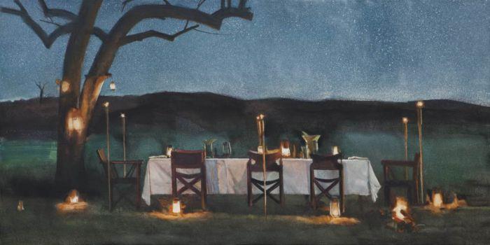 耿德法,青春·盛宴,80x160cm,2016年,布面油画