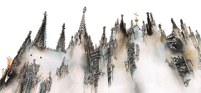 Sunga Park 梦幻欧洲水彩绘画