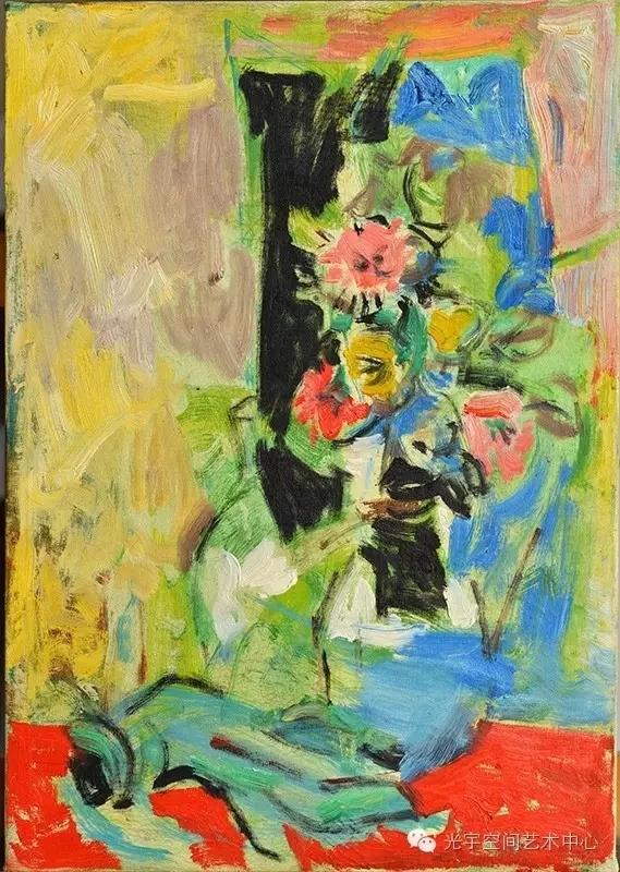 吴大羽作  无题  99  布面油画 45.5cm x 32.5cm 约1950年.webp