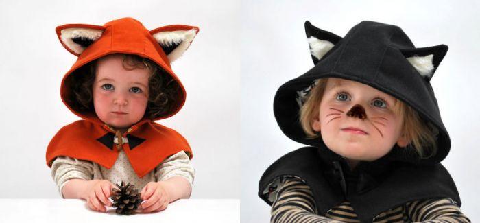 有趣的动物灵感外套将孩子变成可爱的小怪兽