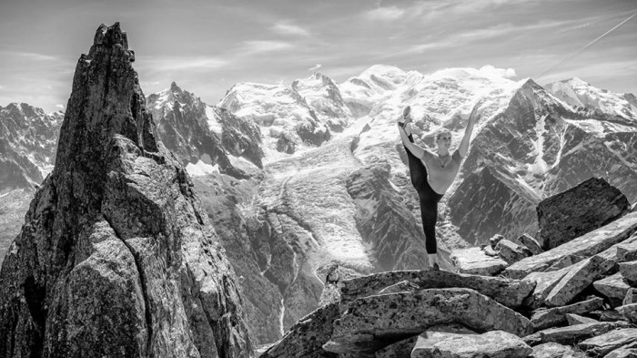 Ballerina Strikes Incredible Poses On Mountain 4
