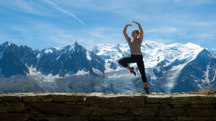 Ballerina Strikes Incredible Poses On Mountain 16