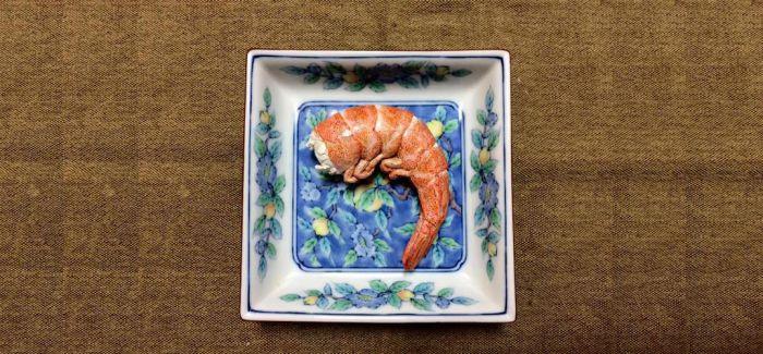 逼真的木质食物雕塑艺术