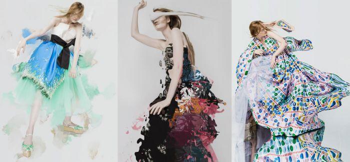 艺术家以 Delpozo 服装为素材  创作晕染般作品