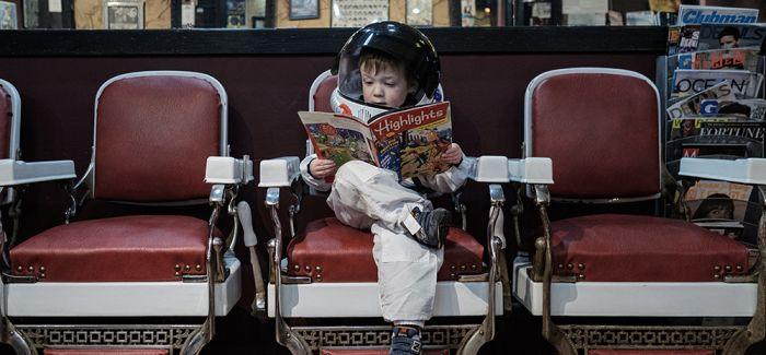 摄影师为儿子拍摄的宇航员生活系列