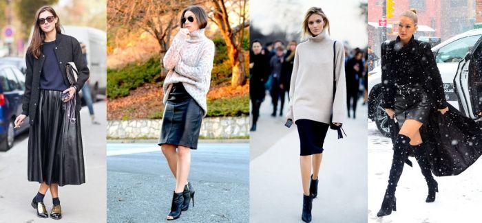 秋冬裙子怎么穿?搭一件毛衣就可以很时髦