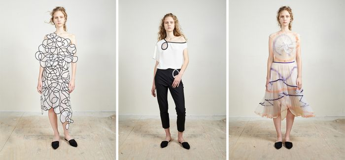 noa raviv 的服装系列新作源自草稿线条的随意奔放