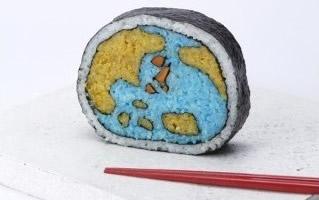 日本寿司艺术家Takayo Kiyota卷出来的寿司画