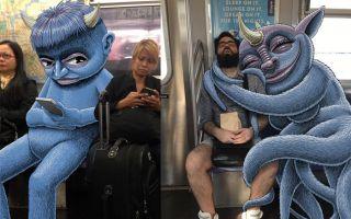 """潜伏在纽约地铁里的可爱""""怪物"""""""