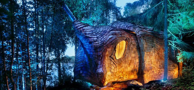 创意木屋:森林中的大蠕虫