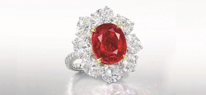 顶级缅甸红宝石亮相佳士得 估价近1亿港币