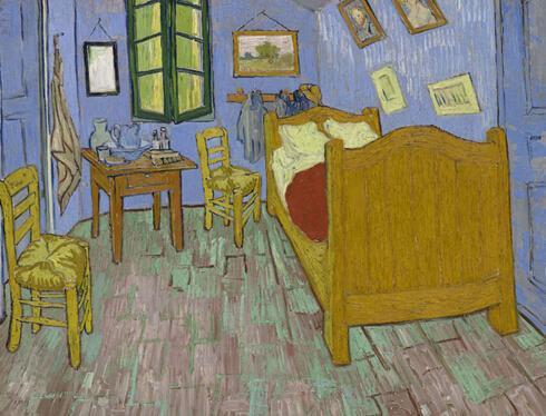 艺术大师梵高于 1889 年绘制的布面油画杰作《卧室》-图片版权归原作者所有