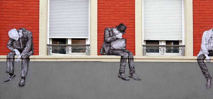 异想天开墙体凃绘玩笑似地戏耍了一把巴黎街道