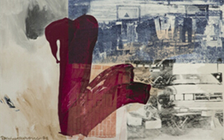 罗伯特•劳森伯格生前的最后一个油画系列