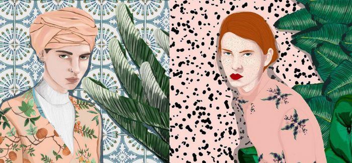 Stefania Tejada 作品:植物与女孩