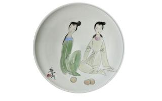 """古玩瓷器上的""""秋韵图"""""""