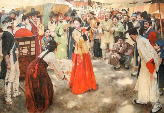 春香传2015年作 林春范 一级画家 布面油画 170×264cm 起拍价 RMB:20,000
