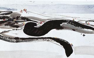 吴冠中的这几幅作品是音乐?是舞蹈?还是人生感悟?