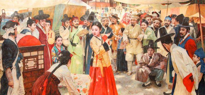 朝鲜油画金达莱绽放2016北京秋季拍卖会