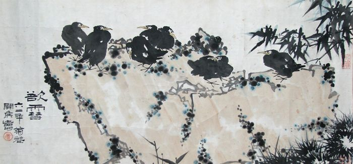 潘天寿大写意花鸟画《欲雪》亮相北京保利秋拍