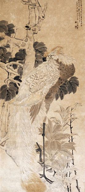 《白凤梧桐》陈半丁  创作年代:1909