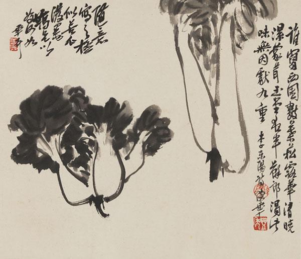 《白菜》 作者:陈半丁  创作年代:1960