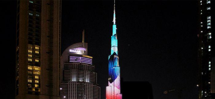 迪拜设计周:LED动画设计在世界最高塔绽放
