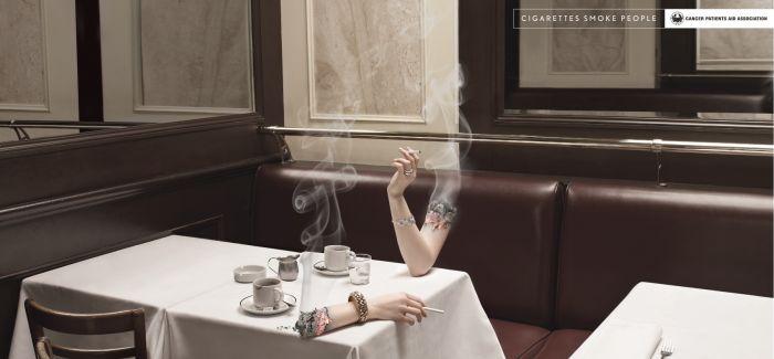 创意广告:烟鬼们 还抽着呢?