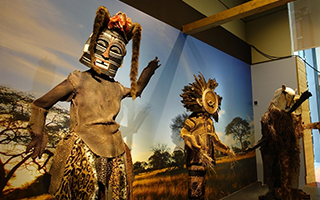 百余件非洲珍稀面具亮相兰州 再现中非交流历程