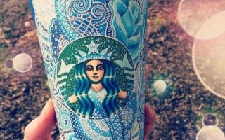 将星巴克纸杯变成艺术品