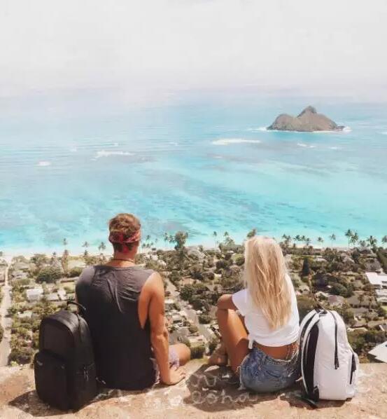 这对最会拍旅行照的情侣靠的就是这几招图片