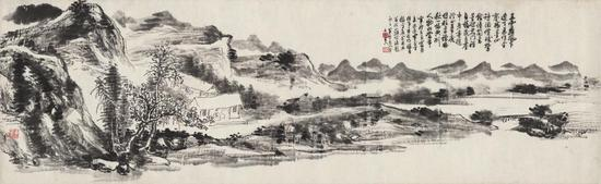 2016西泠秋拍 黄宾虹 《湖山闲居图》