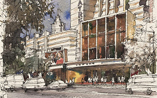 艺术家笔下的邬达克:跳舞的霓虹 没骨的武康大楼