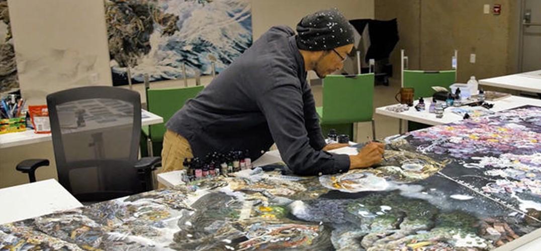 日本艺术家以3.5年时光悉心绘制巨幅创作