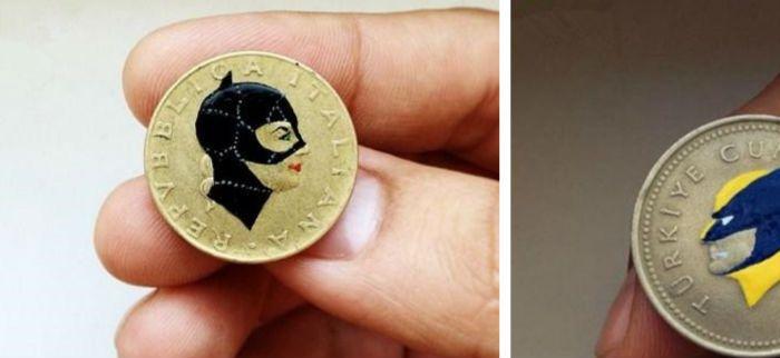 脑洞大开德国设计师硬币上的绘画