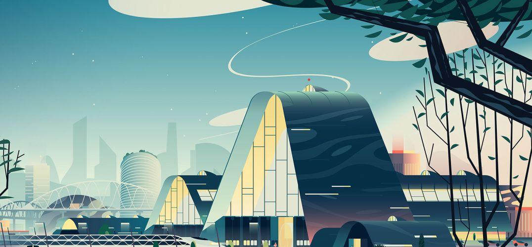 小清新的建筑插画