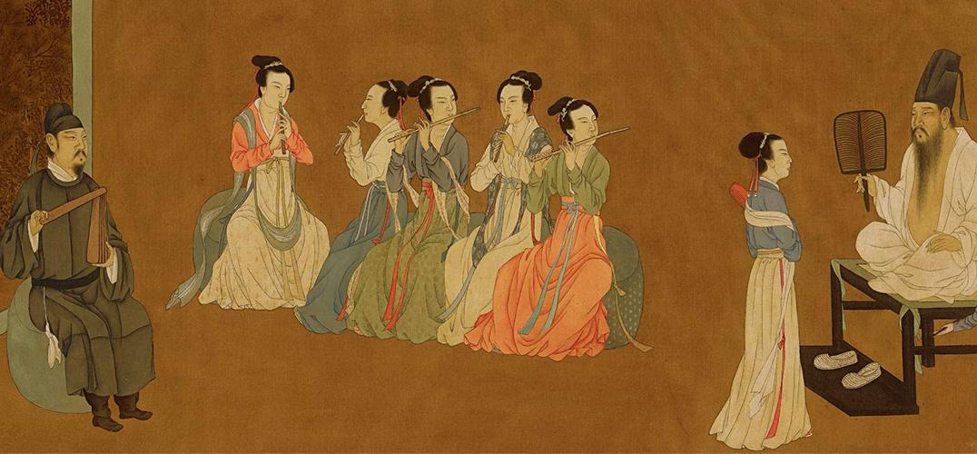 古代朴素美人手绘图