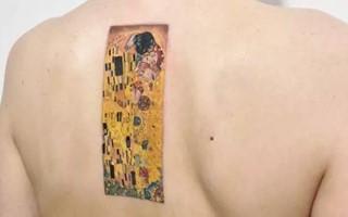 看!超美的油画纹身~