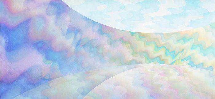 艺术家使用油漆和光线创造耀眼的万花筒房间