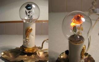 古董灯泡的绮丽发光艺术
