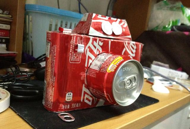 教你用易拉罐手工制作相机模型