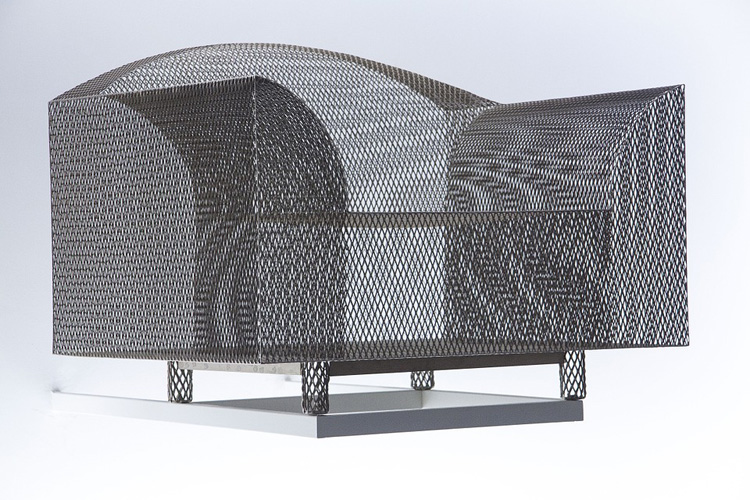 利用耐克运动鞋上的编织技术  设计师做了把椅子