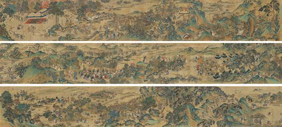 清宫收藏巨制《元人秋猎图》5500万落槌